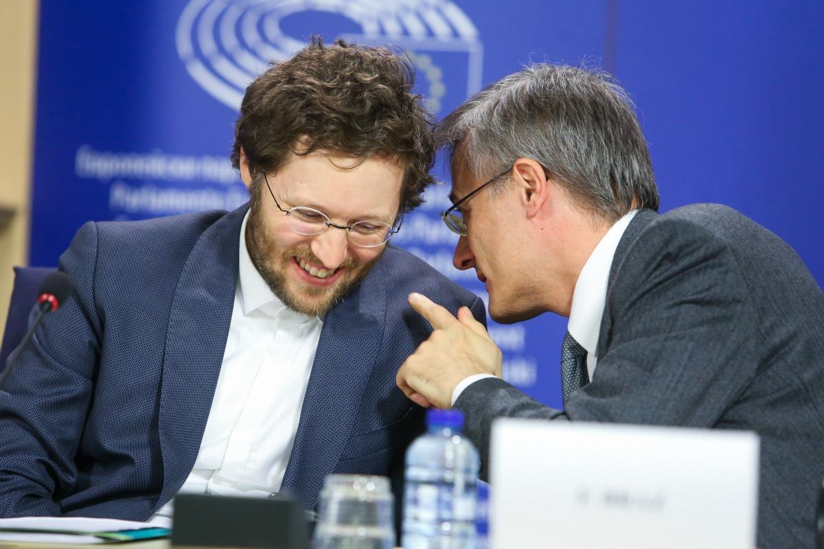 Jan Philipp Albrecht MEP (L) and Félix Braz