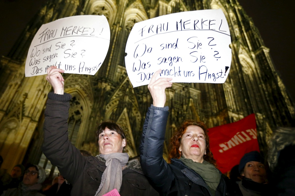 Women protest in Cologne