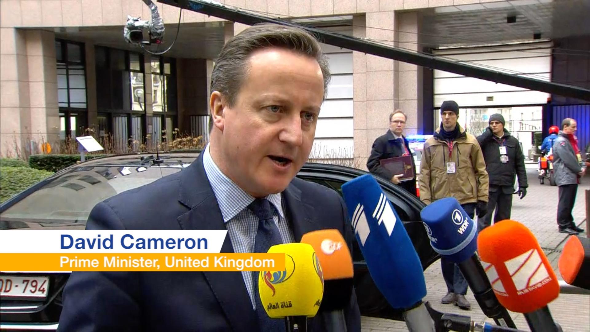 David Cameron talks about Brexit
