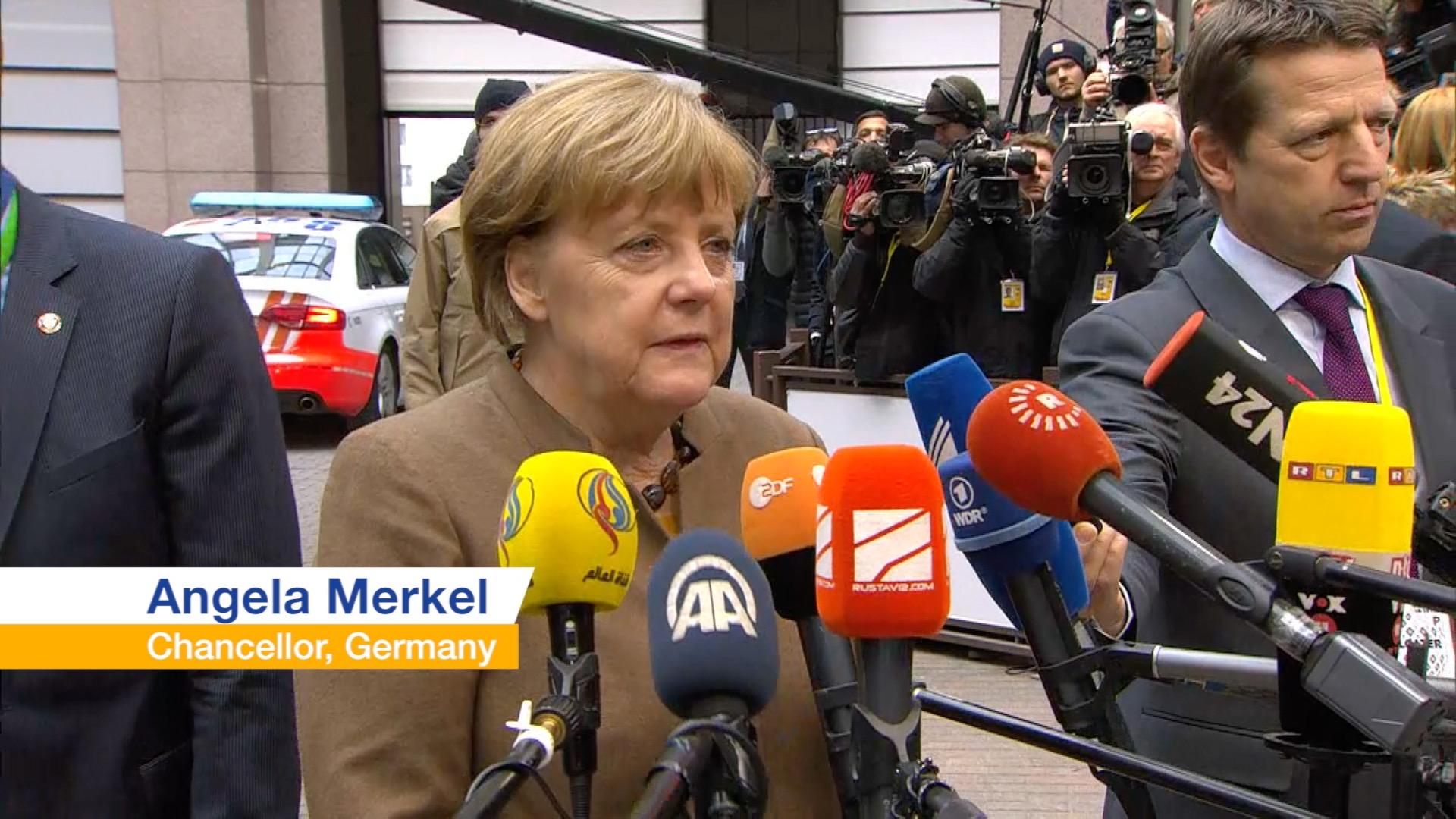Angela Merkel on the refugee crisis.