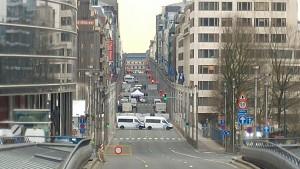The area around Maelbeek was cordoned off. [James Crisp]