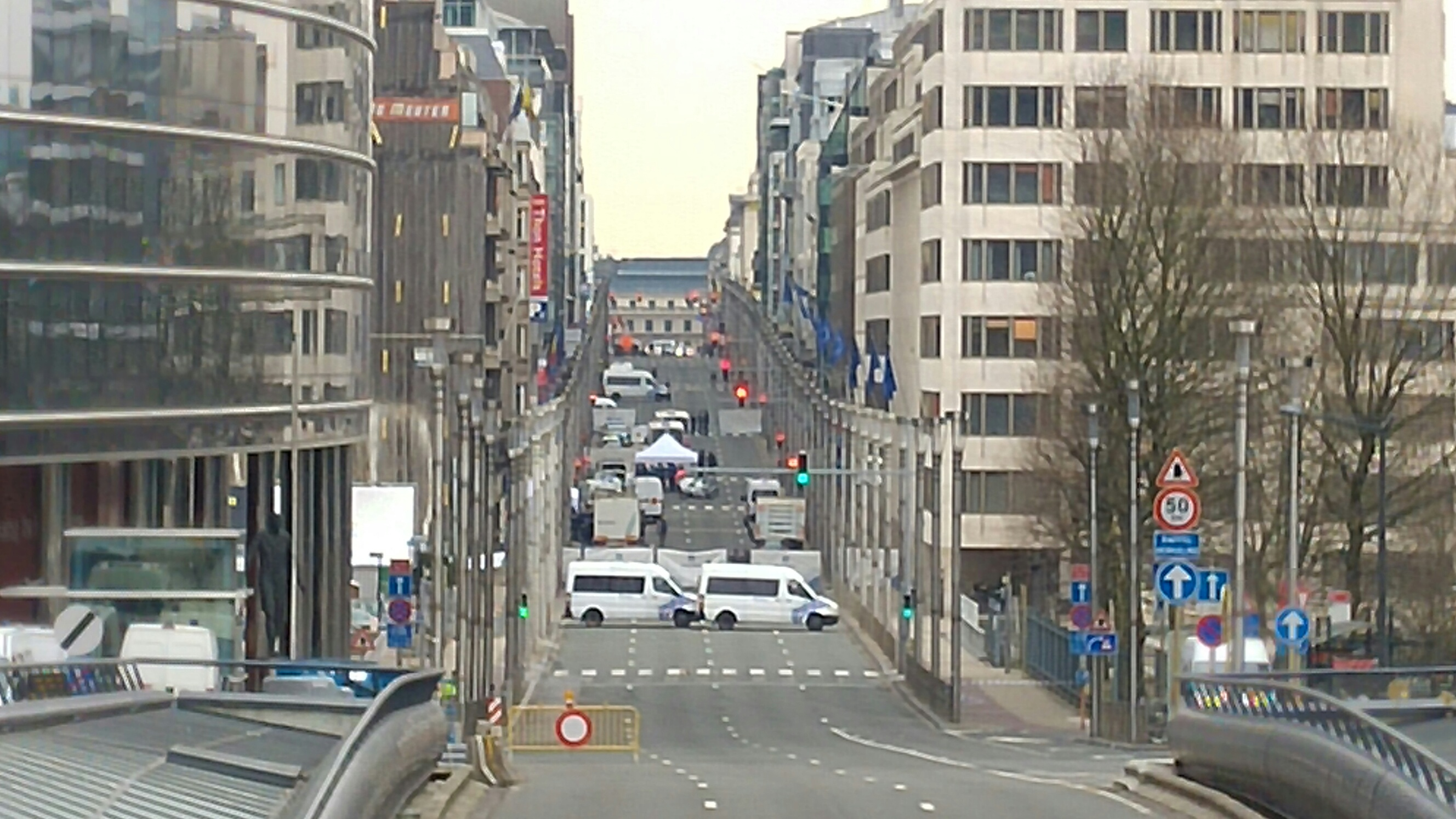 The area around Maelbeek was cordoned off. [James Crisp]
