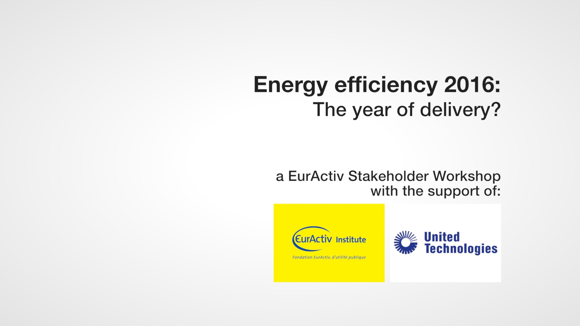 Energy efficiency 2016: The year of delivery?