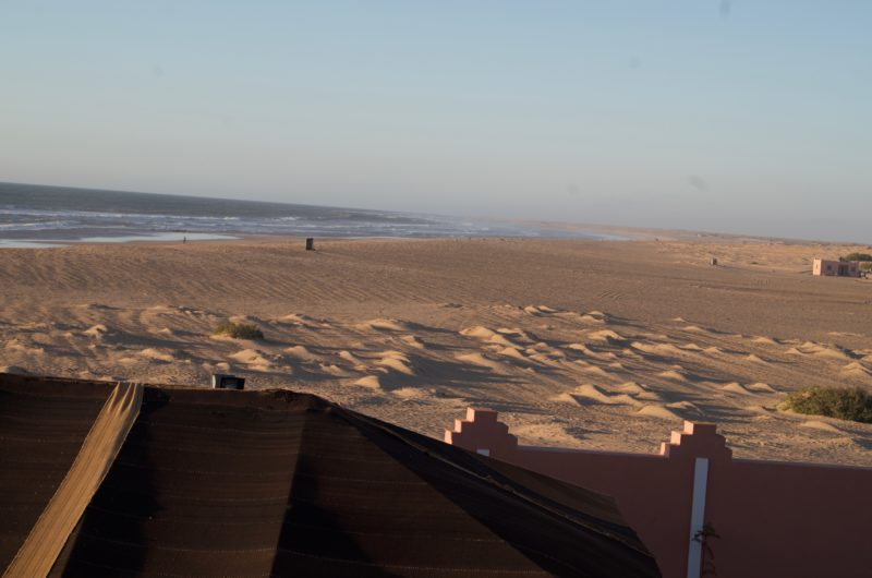 There are guards protecting the coasts every 300 meters / View from the King's summer residence in Layounne, Western Sahara.