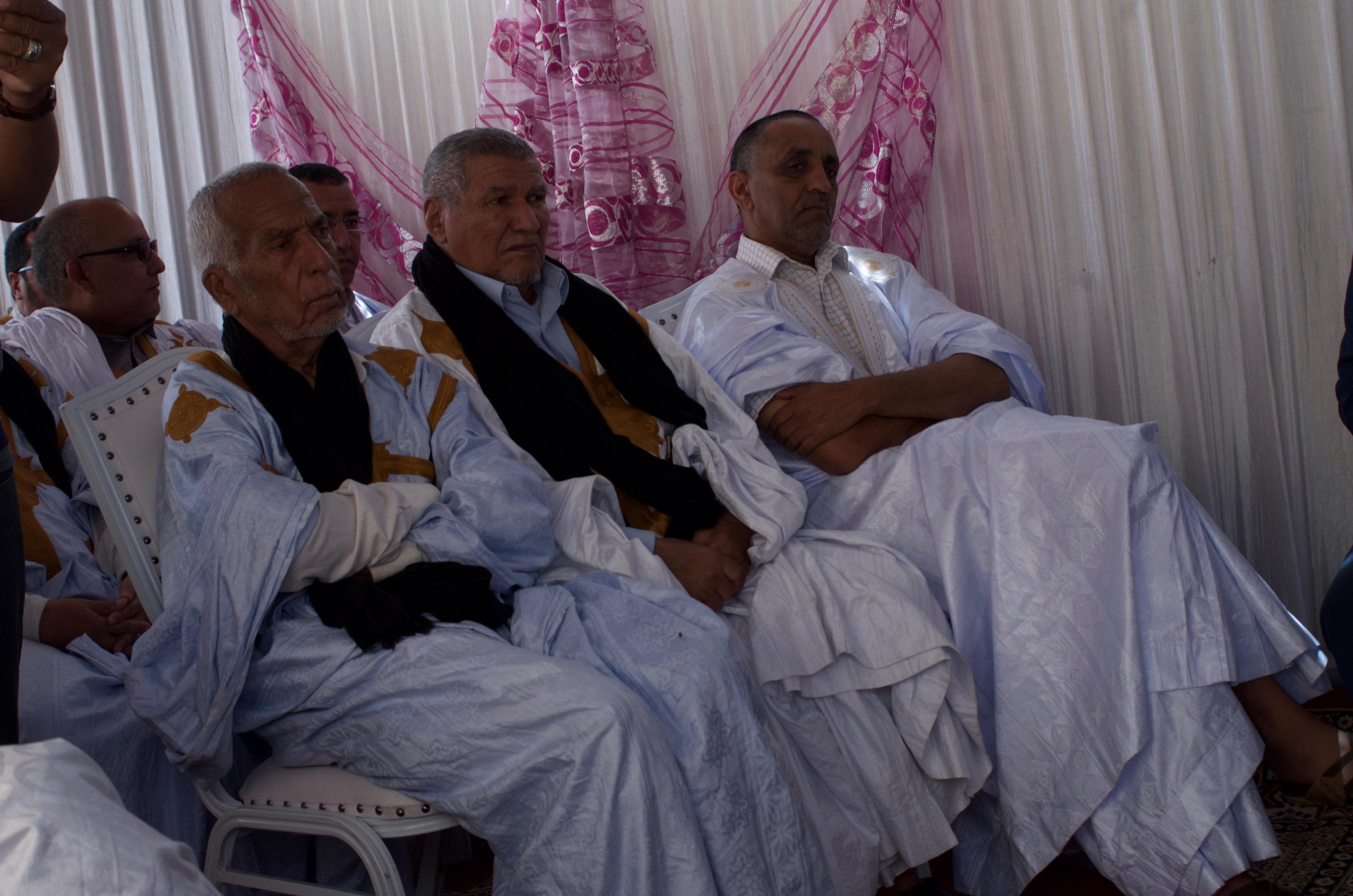Representatives of Saharawi tribes.