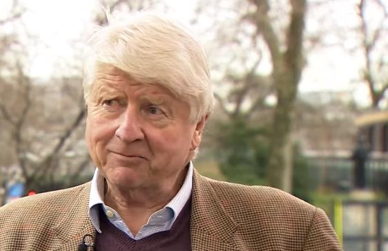 Stanley Johnson being interviewed on BBC News 22 Feb 16
