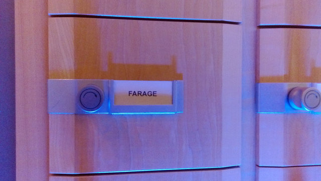 Nigel Farage MEP's letterbox in the European Parliament.