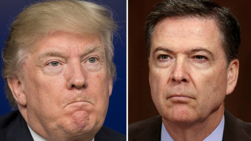 Donald Trump Slams 'Very Cowardly' Comey for 'Totally Illegal' Leak